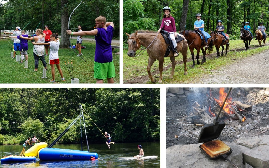 summer camp activities collage