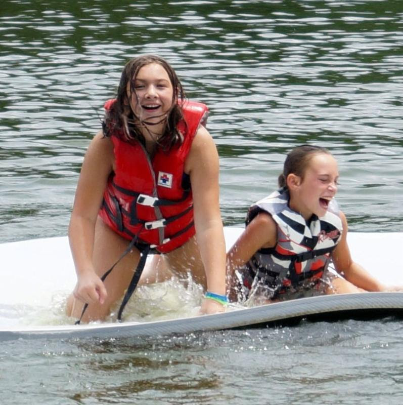 Girls on Water Mat