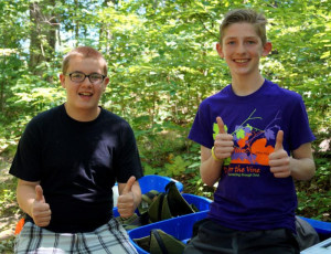 Two Boys Thumbs Up